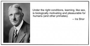 For the record that's John Dewey next to a quote by James Gee ...