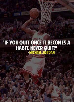 Michael Jordan Quote: Never Quit!