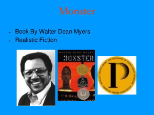 ... envoy defines walter dean myers monster monster by walter dean myers