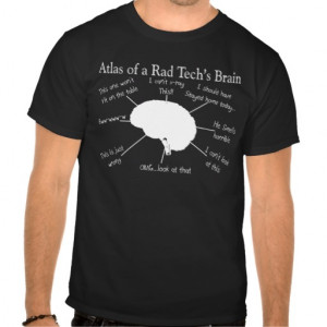 Atlas of a Rad Tech's Brain Funny T-shirts