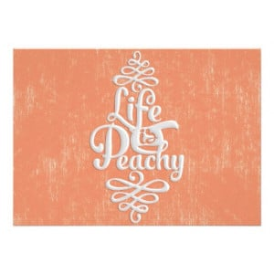 Funny Life Is Peachy Girly Peach And White Desig Invite from Zazzle ...