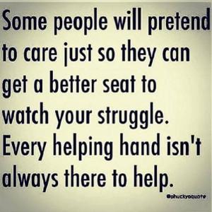 Pretend to care