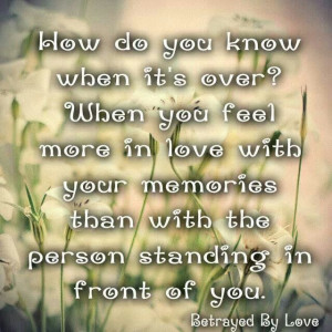 It's over when you realize abuse is not love. A recovery from ...