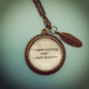 jack sparrow pirates of the caribbean quote by 2tinyhearts on Etsy, $ ...