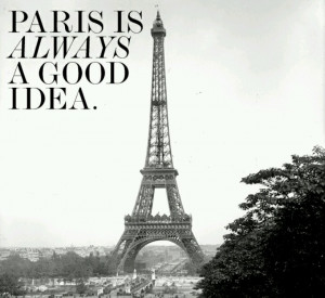 Audrey Hepburn quote about Paris