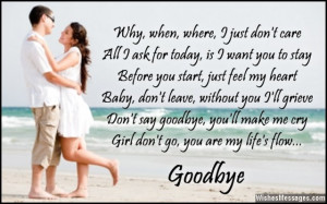 Romantic goodbye poem for a girl