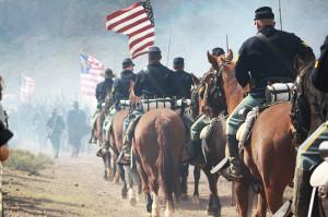 Yankee Union horse cavalry, Picacho Peak Pass Civil War Re-Enactment ...