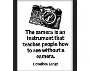 Dorothea Lange Quote