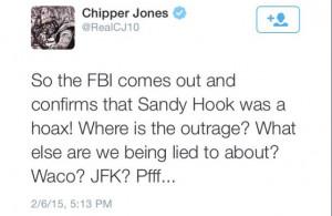 screenshot of Chipper Jones' controversial Tweet before it was ...