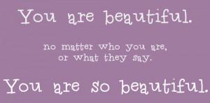 you are so pretty quotes