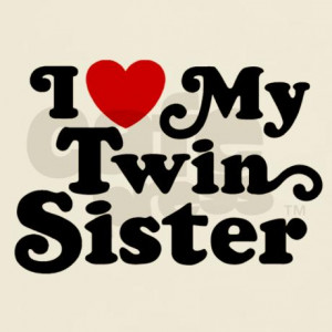baby gifts baby mens i love my twin sister light t shirt