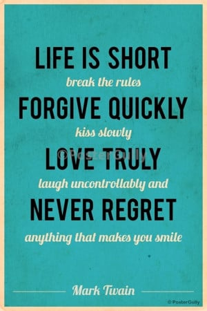 Mark Twain Quotes About Life Life is Short Mark Twain Quote