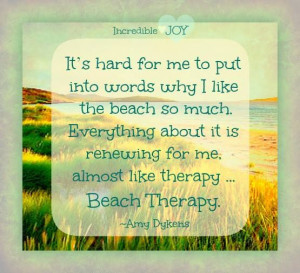 Beach Therapy Quote. #beachquote #quotes Via: https://www.facebook.com ...