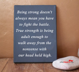 Being Strong Doesn't Always Mean You Have To…