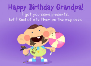grandfather on his birthday with this free and funny ecard