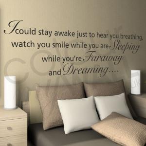 Aerosmith I Don't Want To Miss A Thing Lyrics – Wall Sticker Quote ...