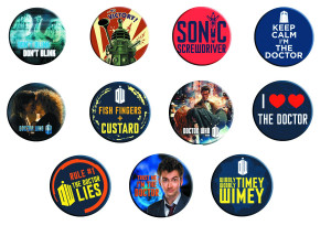 DOCTOR WHO: SAYINGS BUTTON MAGNETS