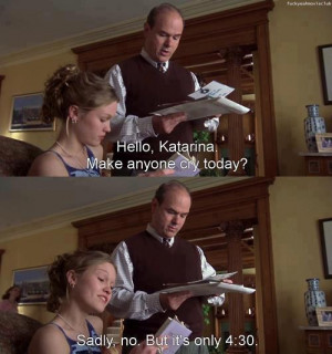 10 things i hate about you, funny, julia stiles, movie