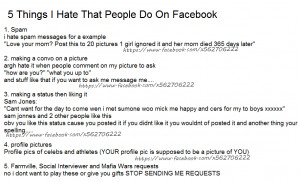 Things I Hate That People Do On Facebook