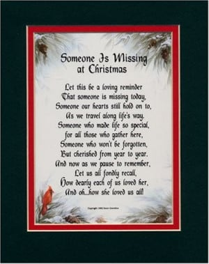 Someone Is Missing At Christmas