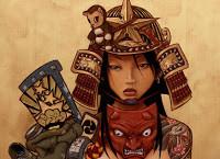 eddy, Samurai Girl 1, and mask ( Deseo-One )