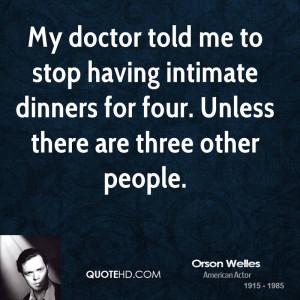 Orson Welles Diet Quotes