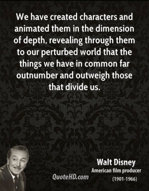 We have created characters and animated them in the dimension of depth ...