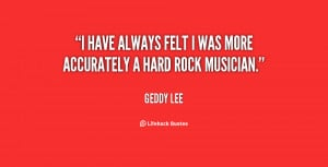 """have always felt I was more accurately a Hard Rock musician."""""""