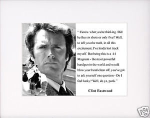 Clint-Eastwood-Dirty-Harry-feel-lucky-Quote-Matted-Photo-Picture
