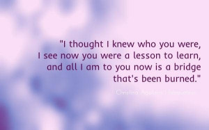 Christina aguilera i thought i knew who you were quote