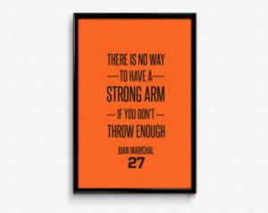 Juan Marichal #9 San Francisco Gian ts Inspirational Strong Arm Quote ...