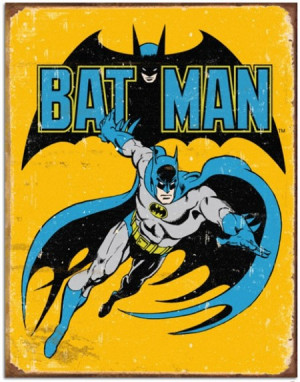 Batman Vintage Comics Metal Sign (Retro Planet)