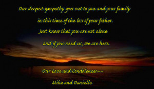 Sympathy Quotes For A Fathers Death ~ Sympathy Quotes: Sympathy Quotes ...