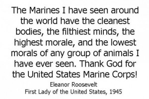 Eleanor Roosevelt #USMC