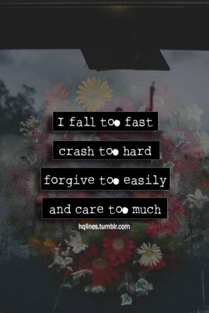 care too much - Thoughtfull quotes Picture