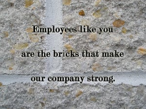 Employee Service Anniversary Thank You Card - Cement Wall Photograph