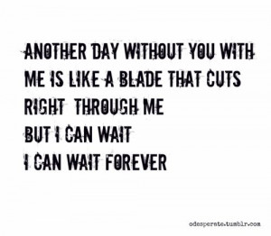 ... day without you with me .... I can wait forever. Simple Plan Lyrics