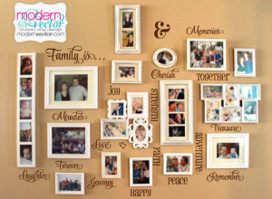 Family Collage Words Vinyl Wall Quote Decals FAMILY IS... Miracles ...