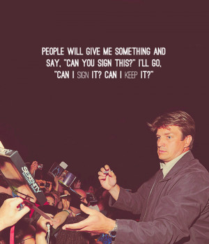 Nathan Fillion on his amazement at the firefly merchandise that he ...