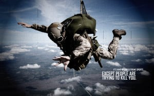 Soldier Skydive Fall Paratrooper warriors mask military text quotes ...