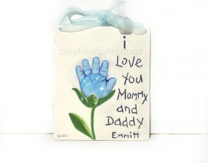Baby Handprint Flower with quote Mold included by Dprintsclayful, $72 ...