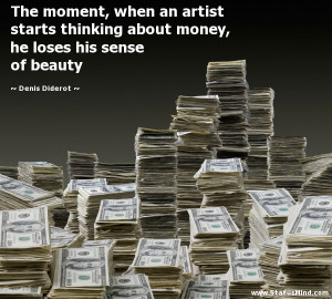 ... he loses his sense of beauty - Denis Diderot Quotes - StatusMind.com