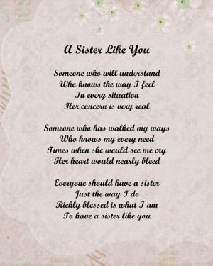 Sister Poems For Birthday Sister poem love poem digital