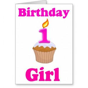 year Old Birthday Girl Card