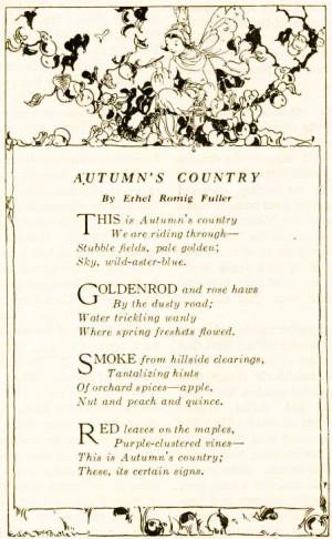 Autumn's Country' poem.