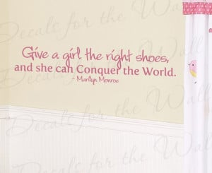 Marilyn Monroe Shoes Wall Decal Quote