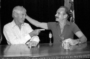 Dr. Timothy Leary and Agent G. Gordon Liddy horsing around after the ...