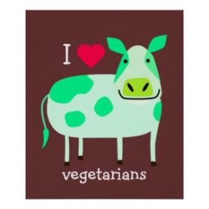 Green Cow - Vegetarian Poster