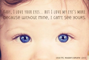 My baby niece {and her baby blues} #quote #babyquote #babyblueeyes
