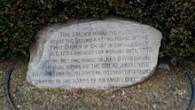 monument in Enfield, Connecticut commemorating the location where ...